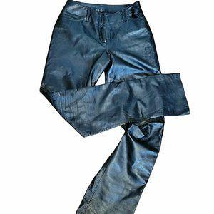 Danier Vintage High Waist Black Leather Pants SZ 4